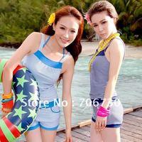 (10pcs/lot)Free Shipping 2012 Crazy Hot Stripes Sports Bikini Piece Overall Bikini Suit,Ladies'/Women Bikini Set,Sexy Bikini Set