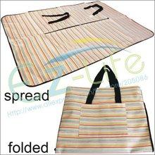 High quality waterproof folding picnic shopping storage bag, foldable picnic camping mat, outdoor travel blanket, free shipping(China (Mainland))