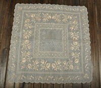 """50% OFF ,Soft  Flowerlet  Beige Embroidery  Wedding decoration/Table cloth 85X85CM SQ(33X33"""")   Free shipping!"""