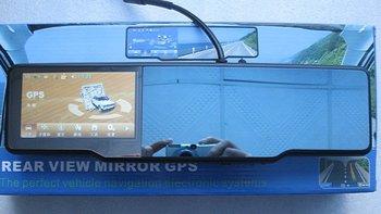 Christmas Gift 4.3 car gps rear view mirror+bluetooth talk Multi-languange +DVR+4GB TF SD cards+radar detector+wireless camera