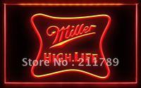 W0820 B Miller High Life Beer Neon Light Sign