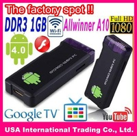 $74.99 Only! MK802 Mini PC,Mini Android4.0 dongle, android IPTV,google tv,smart android box,allwinner A10, 1GB DDR3,Flash 10.3