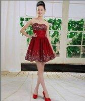2014 New Design New Style Strapless Gown Vestido Fiesta 00303  Tube Top Dresses vestidos de novia Luxury Evening Party Dress