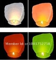 100ps/Lot+Free shipping,Oval Sky Lanterns Mixed Color Shipping UFO Sky Wish Lanterns Chinese Lantern Wedding Xmas Halloween Lamp