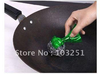 FREESHIPPPING 7pcs/lot kitchen washing brush,,kitchen scourer,Spherical pot brush / cleaning brush  +Free gift
