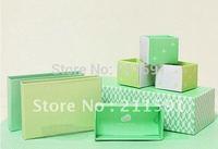 Fashion Square Green color Jewelry Paper Box