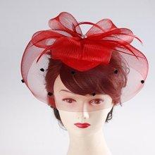 8 ' ' el sombrero rojo de la boda / novia tocado suave ejecución superior del grado(China (Mainland))