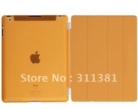Orange Ultra Thin Crystal Hard Back Case + Smart Cover Stand for iPad 2 & 3 + Free gife screen protector