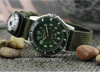 Army Green Suit Bezel Military Army  Men Boy Sport Watch