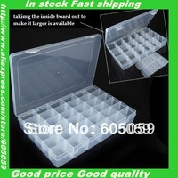 Bubble package well transparent plastic 36 girdS jewelry storage boxes UH099