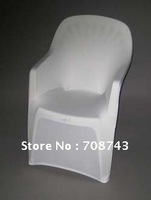 Free and fast shipping / white spandex lycra chair cover with arm for plastic arm chair