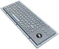 IP65 vandal proof stainless steel keyboard with trackball for kiosk (X-BP921B-S)