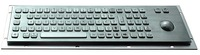 IP65 antivandal stainless steel keyboard with nuymeric keypad and trackball for payphone (X-BP831B)
