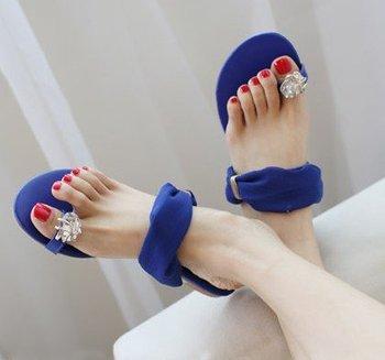 2013 NEW ! Sexy Women flat sandals for Lady flats and women slipper & Black,Blue,Beige