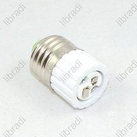 5pcs Brand New GU5.3 to E27 Light Lamp Base Adapter Socket Converter Plastic White-1206235202
