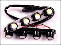Wholesale 3pair White 24W 12V  170mm x 25mm x 30mm 4LED Daytime Running Light Eagle Eye Lights Fog Light Driving Light