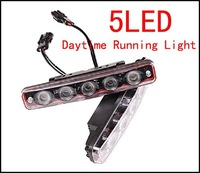 White 10W 12V 190mm x 30mm x 45mm 5LED Eagle Eye Lights Daytime Running Light Fog Light Driving Light Free Shipping