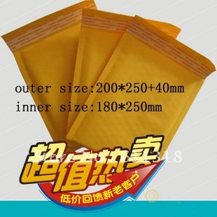 Fair price Kraft Bubble Padded Envelopes Air Mailers Bags 50pcs 200*250+40mm(China (Mainland))