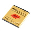 GOLD 2430MAH HIGHCAPACITY REPLACEMENT BATTERY FOR SONY Xperia Neo MT15i/Xperia ray ST18i/LT16i BA700 FREE SHIPPING