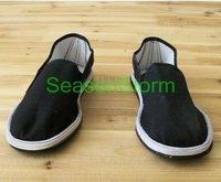 [EMS Free Shipping] Wholesale Classic Unisex  Beijing Cotton Cloth Shoes / Black Casual Shoes (SZ-10E)