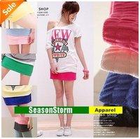 [EMS Free Shipping] Wholesale Womens  Cotton Mini Skirts / Multi-Color Short Dresses 10 Color (SU-09E)