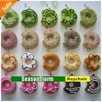 [EMS Free Shipping] Wholesale Cute Cartoon Squishy Donut Mobile Phone Straps / Phone Charm (SC-02E)