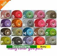 [EMS Free Shipping] Wholesale Baby Crochet Beanies Kufi Hat / Infant Knitted Cap With Flower (SY-67E)