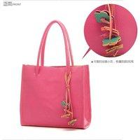 2012Hot Sale Fashion Handbag Women shoulder handbags women bags PU Leather Bag free shipping