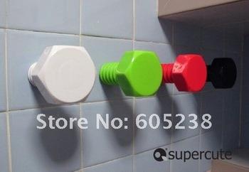 4pcs/lot Free shipping Giant Screw Wall Hook Hanger Hexagon Shape Wall Hook