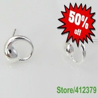 E003 High Quality! Free shipping silver rose earring.fashion jewelry jewellry Stud earrings