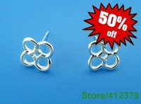 E133 Factory Price,Nice Package! Free shipping silver earring.fashion jewelry jewellry Earrings, Best for Gift