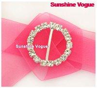 DHL free, Rhinestone buckle, Super shine crystal buckles, 500pcs/lot, round buckles, glossy crystal for wedding/garment