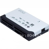 2012 New Cheap 1Pcs External USB 2.0 Memory Card Reader Writer CF SDHC MMC XD MS MICRO MINI +Free Shipping