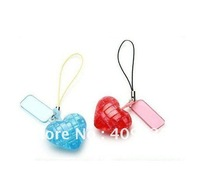 Free shipping mini heart 3D crystal puzzle as keychains