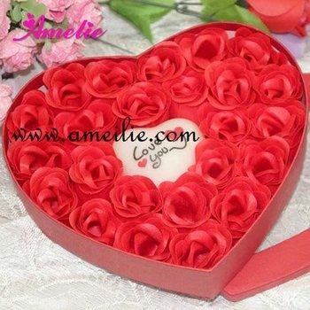 Free shipping, Gift Washing Cleaning Bath Rose Flower Petals Soap Gift Organtic Wedding Favor.