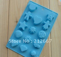 Wholesale 5pcs/lot valentine silicone cake mould silicone cake pan, pudding, chocolate, and pizza molds Free Shipping