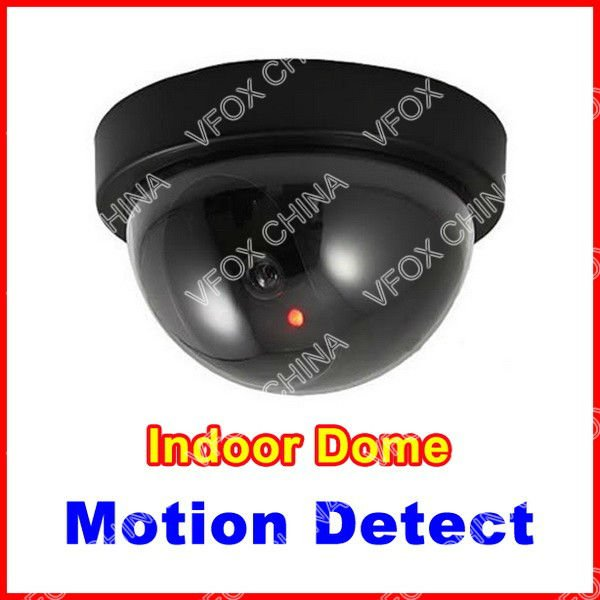 Fake Dummy Dome Camera with Motion Detection Black Security CCTV Camera With LED Light Indoor Camera(Hong Kong)
