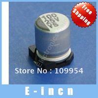 50pcs 100uF / 25V SMD Aluminum Electrolytic Capacitors free shipping