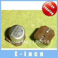 100pcs 47uF / 35V SMD Aluminum Electrolytic Capacitors free shipping