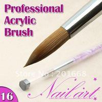 Free Shipping - Large size brush size 16 NO.16 Pink Marble Acrylic Nail Brushe - NA621