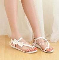 Han edition bowknot belt sexy fashion with flat sandals