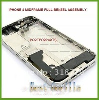 Full Parts Midframe Assembly Housing Middle Frame Chassis Bezel For iPhone 4G