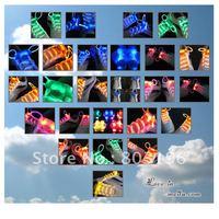 Free Shipping 200PCS/Lot  Wholeasle Flash Luminous Shoelace LED Light Lace light up led shoelace Mix Colors