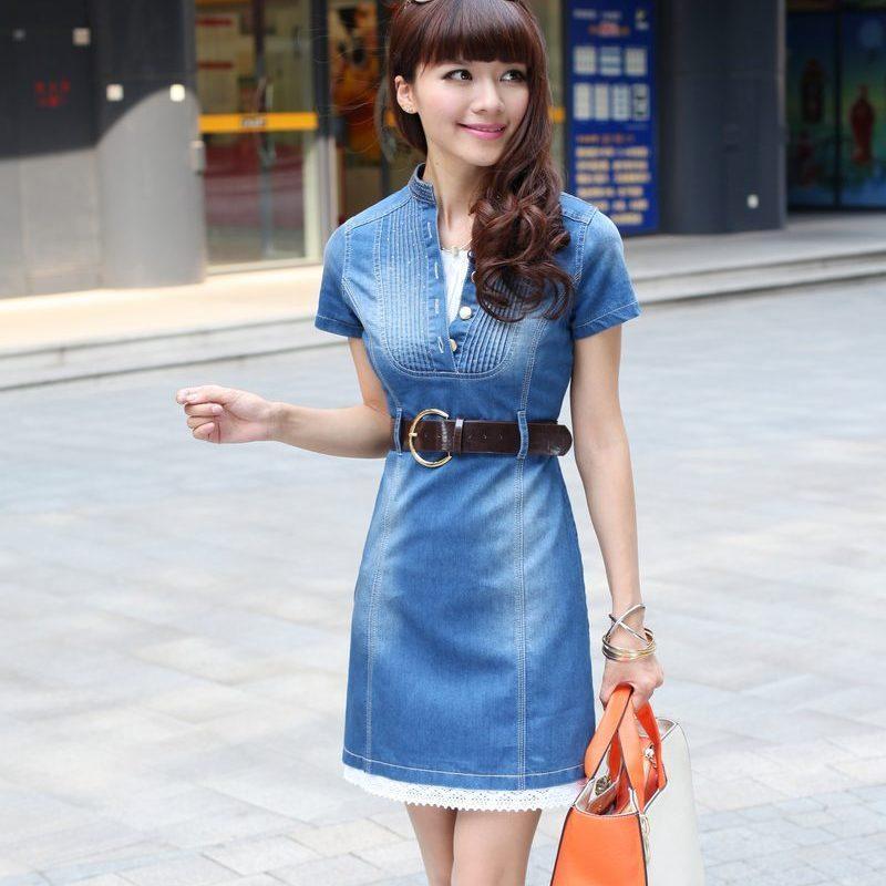 Creative  Women Summer Plus Size Thin Women Loose Denim Dress S4XL Slim Jeans