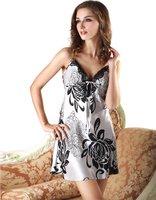 LZ nightwear summer girl dress 2014 mix Silk female sexy skirts sleepwear lace nightgown lounge roupa de dormir plus size XL XXL