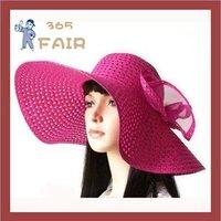 Hot fashion straw beach cap sunbonnet hats sun hats for women 8 colors wholesale