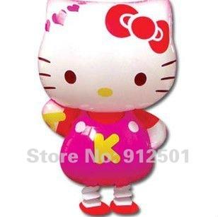 50pcs/lots free shipping  wholesale Hello kitty walking pet balloons  ,Children toys