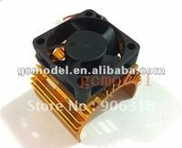 RC Model B36-33 36 x 33mm Motor Heat Sink with 5V Cooling Fan (Golden)
