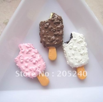 Free shipping! very hot and kawaii flat back resin icecream  accessory 21pcs  for DIY phone,note book decoration