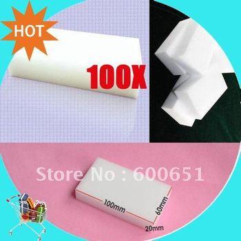 Magic Sponge Eraser Melamine Cleaner,multi-functional Cleaning 100x60x20mm 100pcs/lot HG972